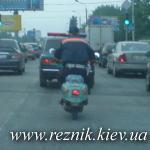 Украинское ГАИ закупает новые эскортные... скутеры.